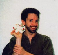 "On the back of this photo, Shari's tour manager wrote ""Dr. Aaron Latham Puppet Proctologist"""